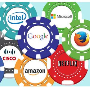 gigantes buena de intenet de la tecnologia tecnologicos pesos pesados industria google microsoft internet mozilla netfliz amazon cisco