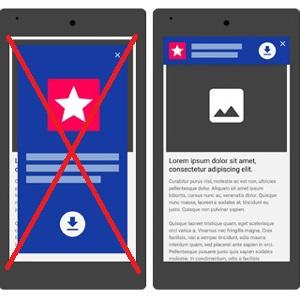 La publicidad a pantalla completa en las webs móviles tiene los días contados: Google las penalizará