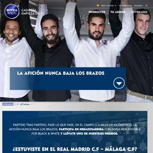 NIVEA MEN puso en marcha una acción que hizo alzar los brazos a la afición del Real Madrid
