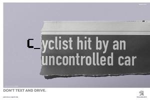 La simple pero efectiva campaña de Peugeot para coger el volante y no el móvil en el coche