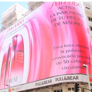 Shiseido y Tango despliegan el primer soporte publicitario que elimina la contaminación