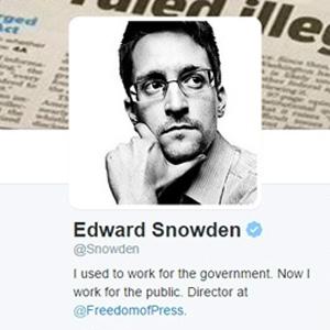 Edward Snowden se estrena en Twitter sin pelos en la lengua