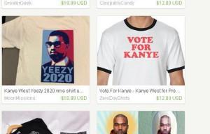Kanye West ya tiene su propio merchandising para su carrera hacia la Casa Blanca