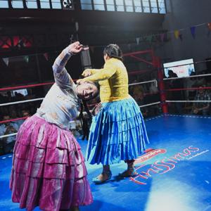 Las Cholitas Luchadoras protagonizan un espectáculo único en España
