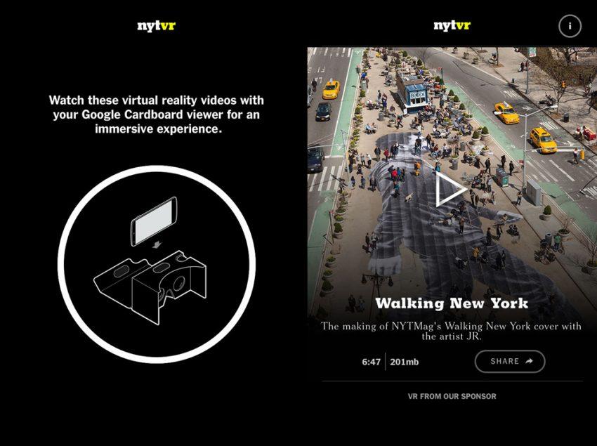 The New York Times se apunta a la realidad virtual de la mano de Google Cardboard