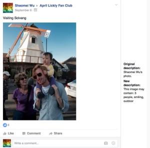 Facebook quiere ser los ojos de los invidentes con una herramienta que les permitirá