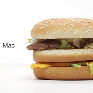 Nueva parodia del estilo publicitario de Apple con McDonald's como protagonista