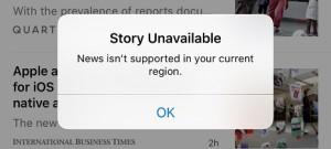 Apple bloquea Apple News en China por la censura del país
