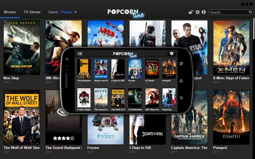La web de cine pirata Popcorn Time echa el cierre 48 horas después de su lanzamiento