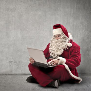 Santa Claus Laptop