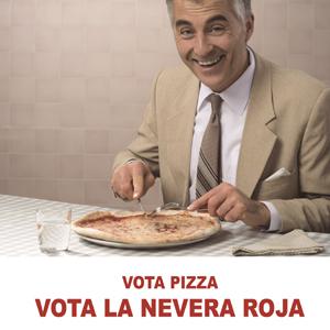 Campaña Vota La Nevera Roja elecciones