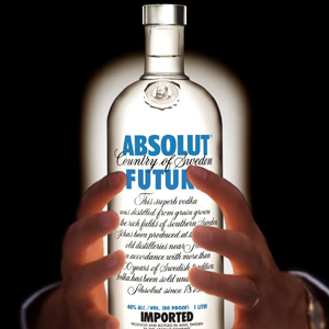 absolut vodka botella