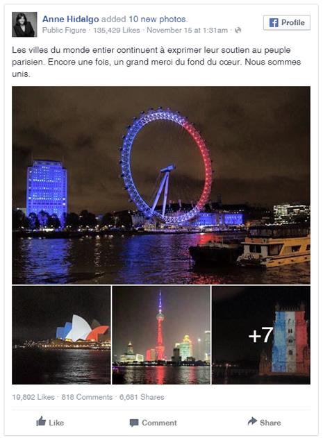 atentados paris facebook