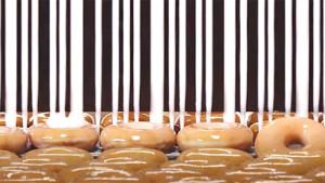 Si es goloso, el azucarado código de barras de esta marca de donuts le hará la boca agua