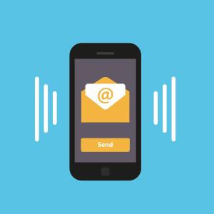 El email es móvil