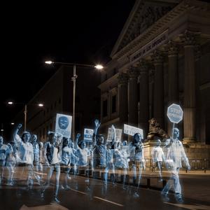 hologramas por la libertad campaña