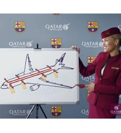 qatar airways FCB 1