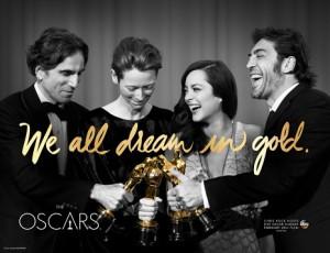 Los Oscars presentan su flamante (y dorada) campaña como antesala de la gala de este año