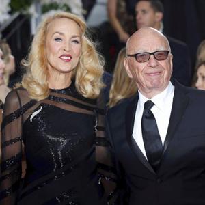 Rupert Murdoch y Jerry Hall 2
