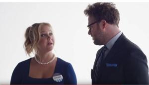 Amy Schumer y Seth Rogen candidatos electorales de la nueva campaña de Bud Light