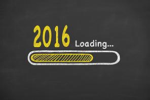 Loading New Year 2016 on Chalkboard