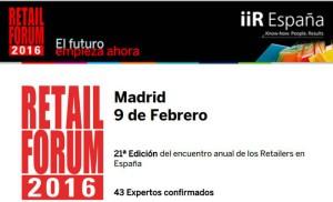 iiR se prepara para abrir las puertas de Retail Forum 2016