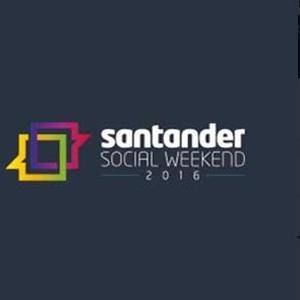 santander social weekend logo image