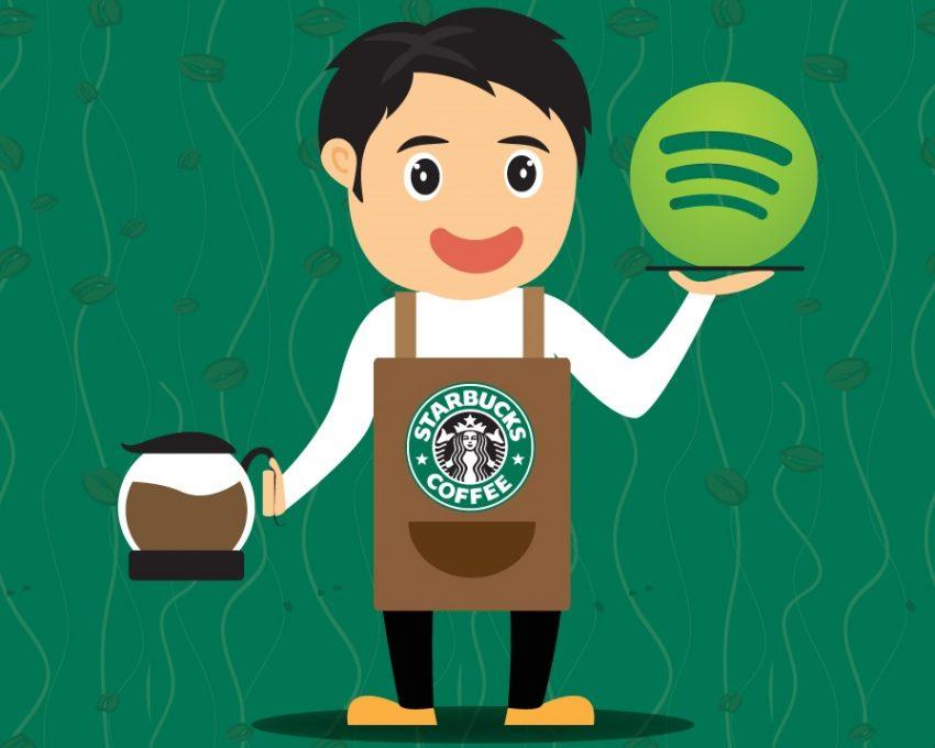 Starbucks y Spotify se asocian para recomendar canciones a los usuarios mientas toman café