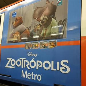 Zootrópolis tren imagen