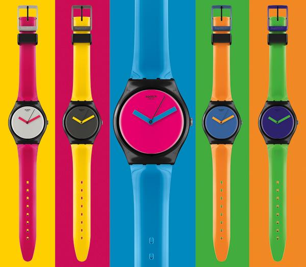 swatch convertir sus relojes de colores en los smartwaches del momento marketing directo