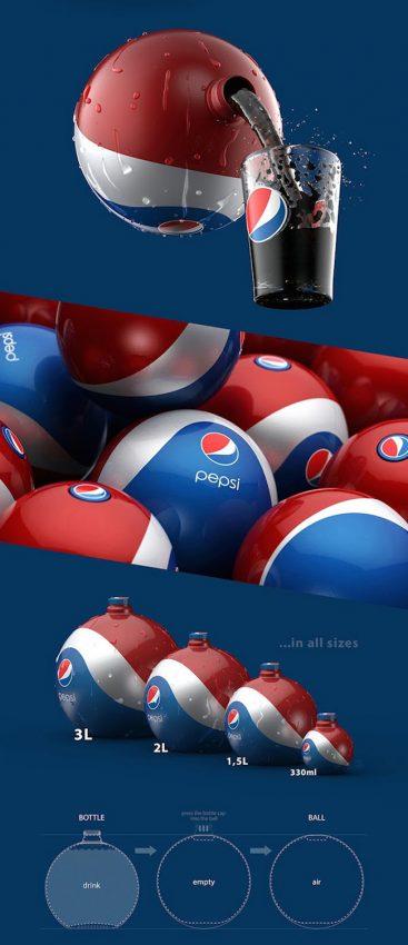 ¿Botellas-balón? Esta idea de diseño para Pepsi convierte sus envases en juguetes