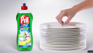 Una botella de una sola gota: así es como Pril demuestra su efectividad
