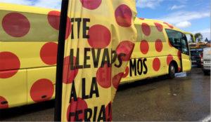 La ciudad de Sevilla se viste de lunares de la mano J&B y sus autobuses exclusivos