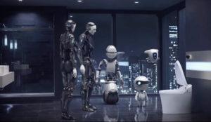 Según este gracioso spot, los robots no se separarán del retrete en el futuro