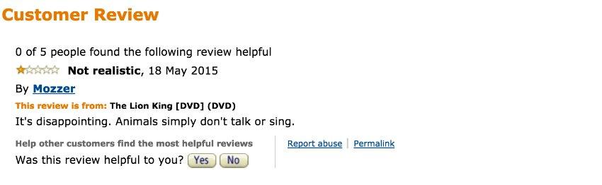 Screenshot Fiese Ein-Stern-Bewertungen bei Amazon und Co./ 05_Lion_Amazon