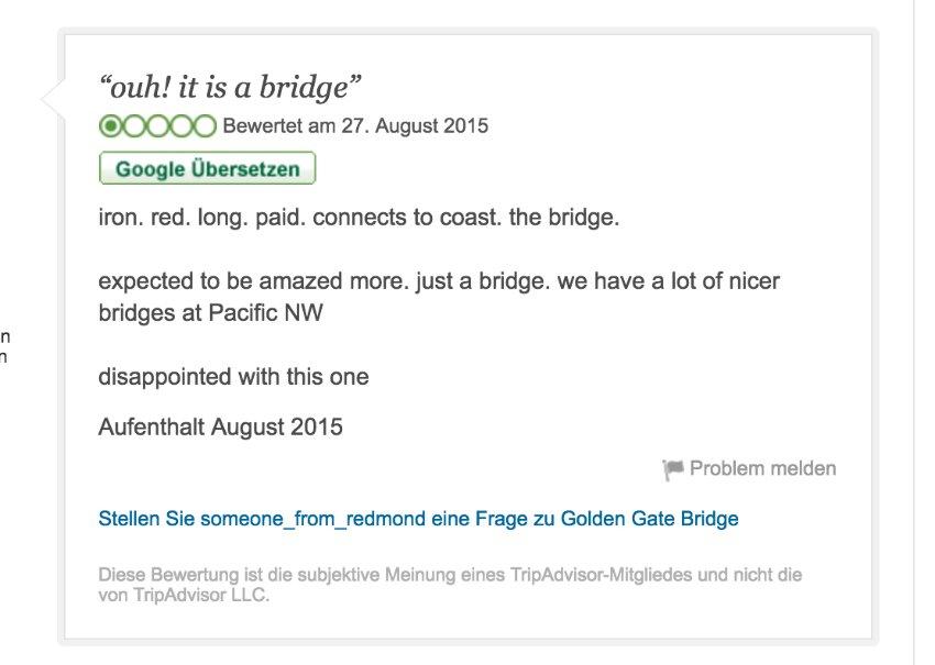 Screenshot Fiese Ein-Stern-Bewertungen bei Amazon und Co./ 09_Gate_Tripadvisor