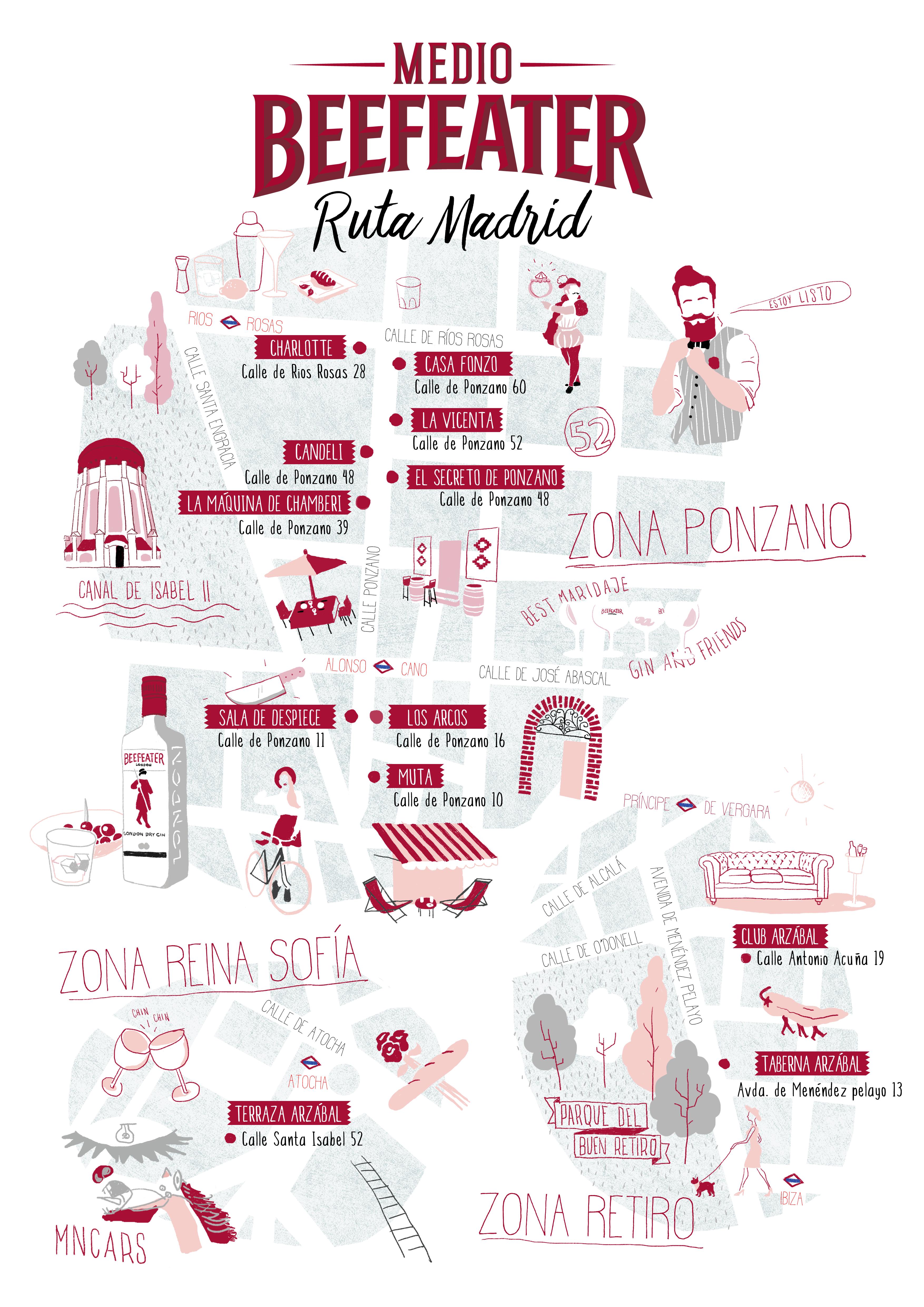 MAPA MEDIOS BEEFEATER MADRID 2