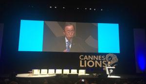 Ban Ki-moon moviliza a las grandes agencias en Cannes Lions para cambiar el mundo