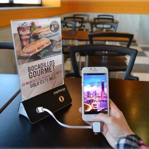Cargadores de móviles para restaurantes, una herramienta de marketing de proximidad