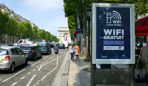 wifi champs elysees