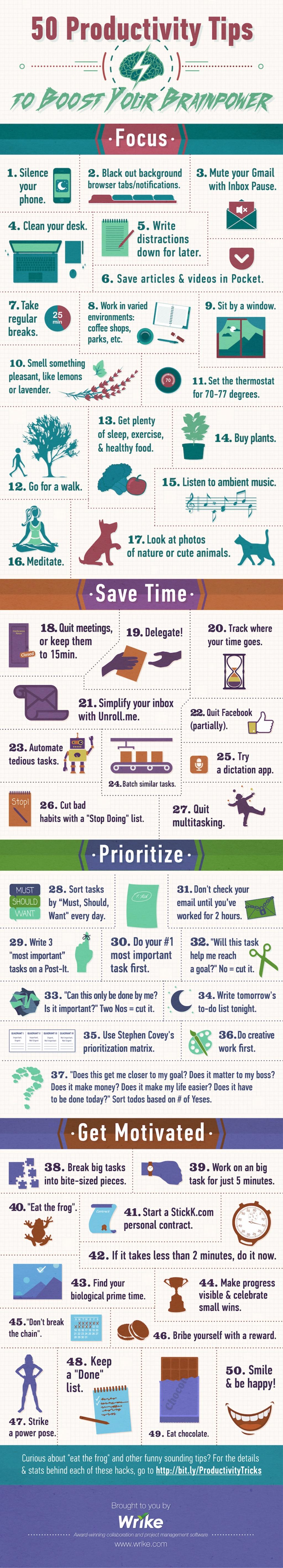 50-productivity-tips-brainpower-infographic