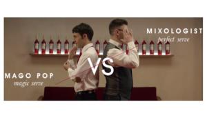 El Mago Pop se bate en duelo con el experto mixologist de Campari