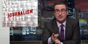 El periodismo (y sus mil y un problemas), según John Oliver