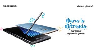 Samsung Galaxy Note7 invita a los usuarios a