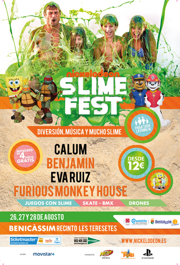 Nickelodeon Slime Fest llega a Benicàssim