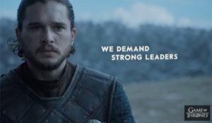 Olvídese de Trump: Daenerys y Jon Snow reclaman el voto en las elecciones americanas