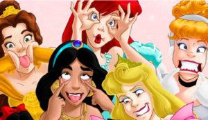 ¿Qué pasaría si las princesas Disney tuvieran Snapchat?
