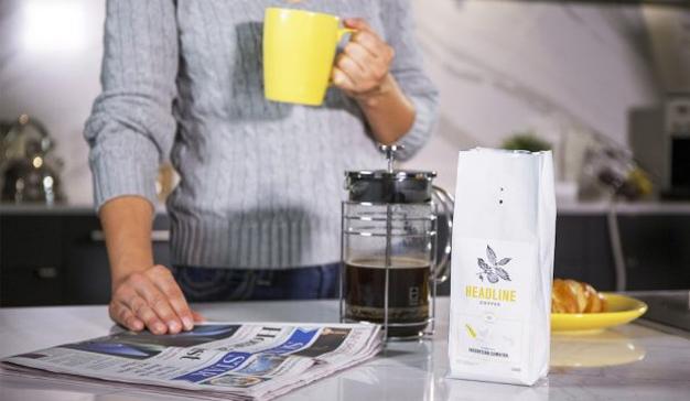 ¿Información con aroma a café? Este diario mete a sus lectores la cafeína en vena