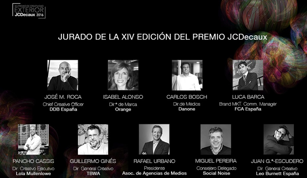 Se presenta el jurado del Premio JCDecaux de Creatividad Exterior 2016