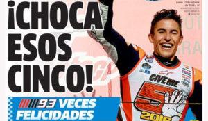 Estrella Galicia y Marc Márquez roban la A del diario Marca